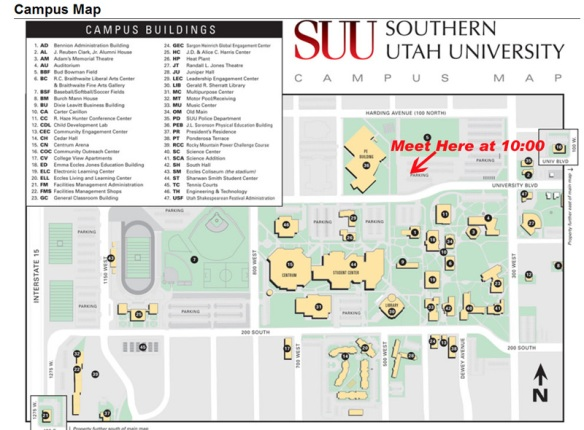 southern utah university campus map Group Run Saturday March 24 10 00 A M Meet At Suu Pe Building